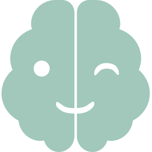 teal logo of winking brain for neurodiverse Alex