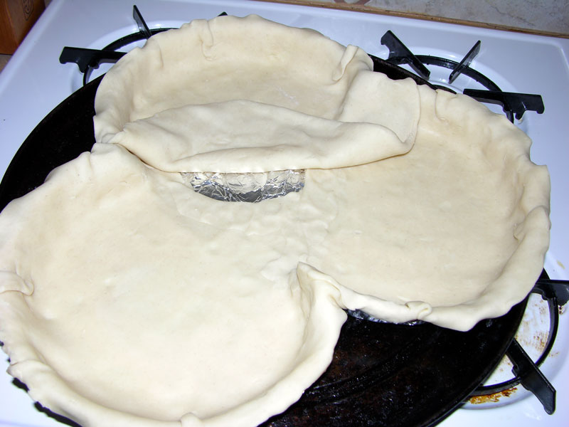 Pie crust laid out